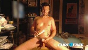 Fetish Gamer Guru Louis Carr Applies Dripping Hot Wax on His Cock