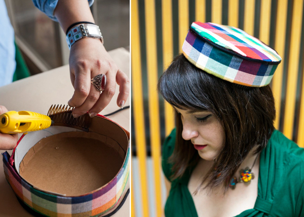 Handmade Hats Ahoy! No Sew Pillbox from Modcloth