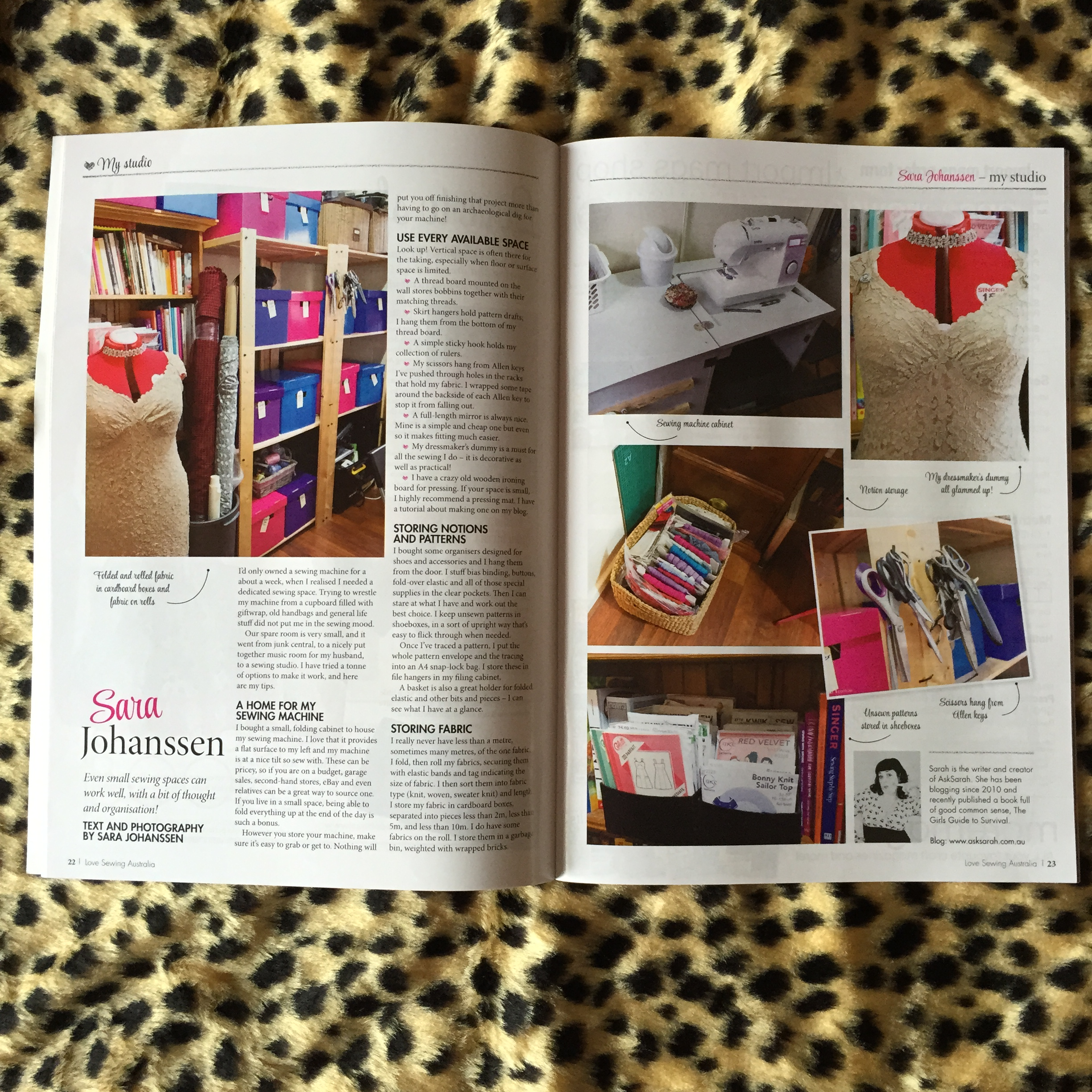 Guess Who's in Love Sewing Magazine this Month? {And New Idea too!}