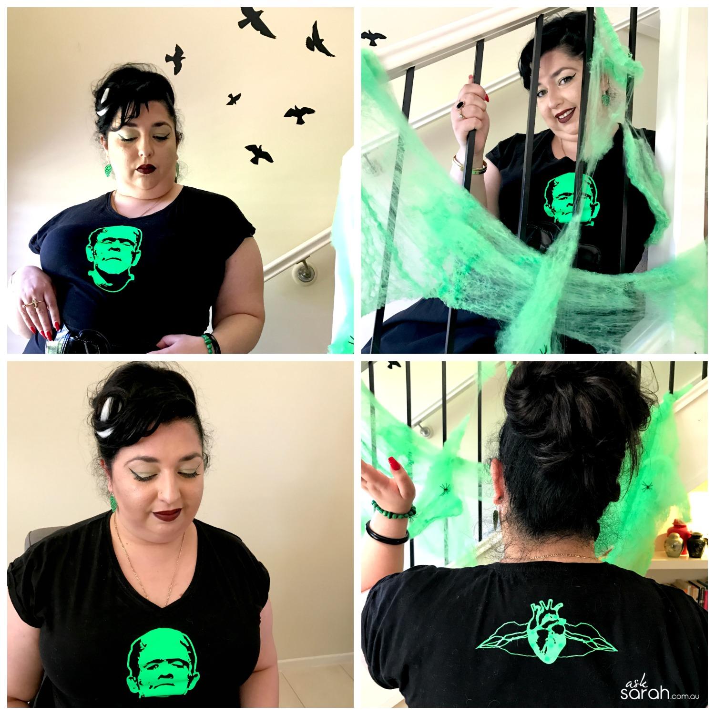 Halloween: Rockabilly Frankenstein Costume {DIY Heat Transfer Tee}