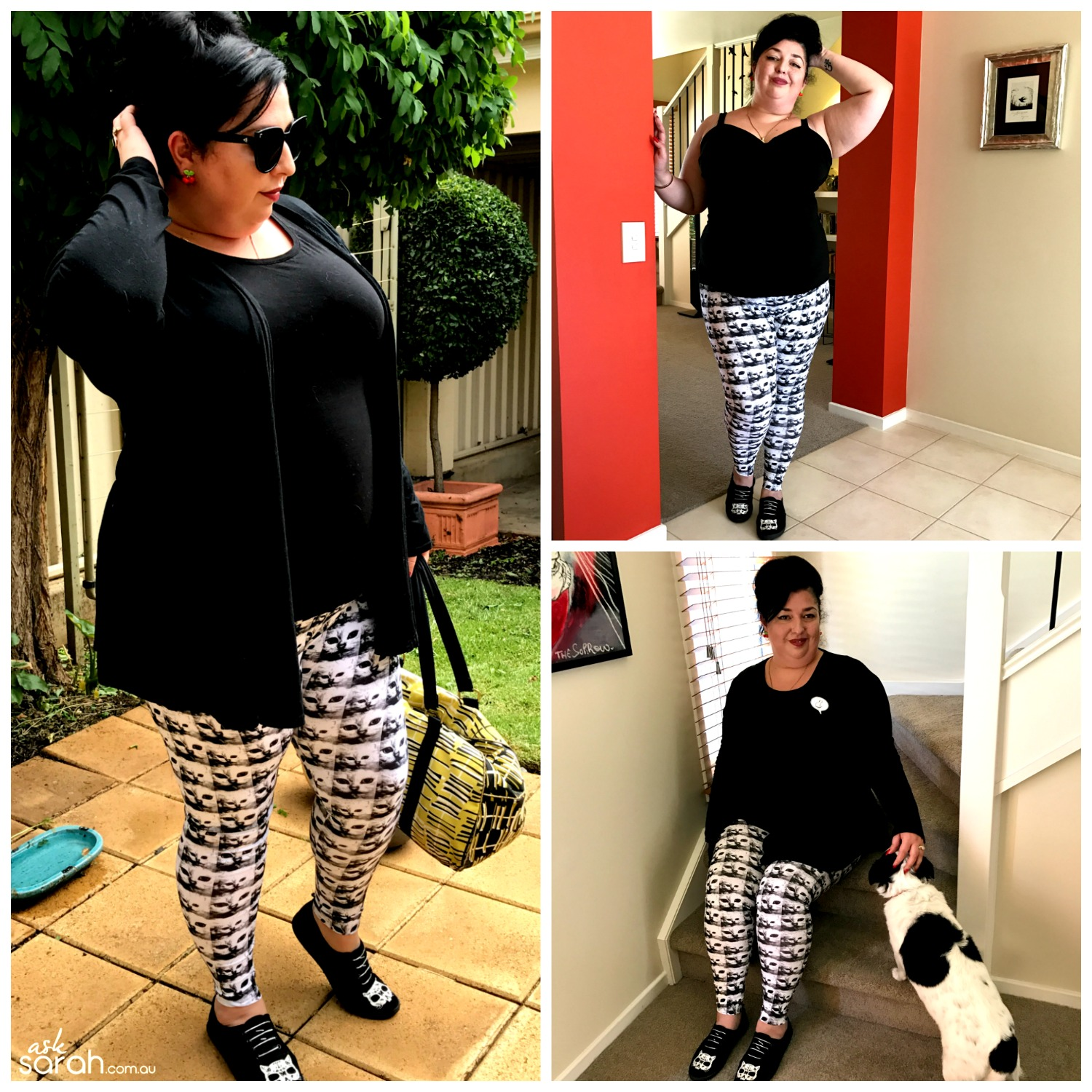 Sew DIY Leggings Tutorial {Make A Pattern From An Existing Pair Without Cutting Them Up} final