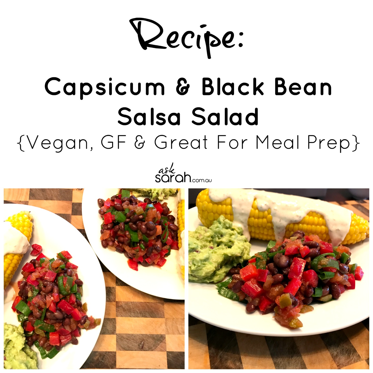 Recipe Capsicum & Black Bean Salad
