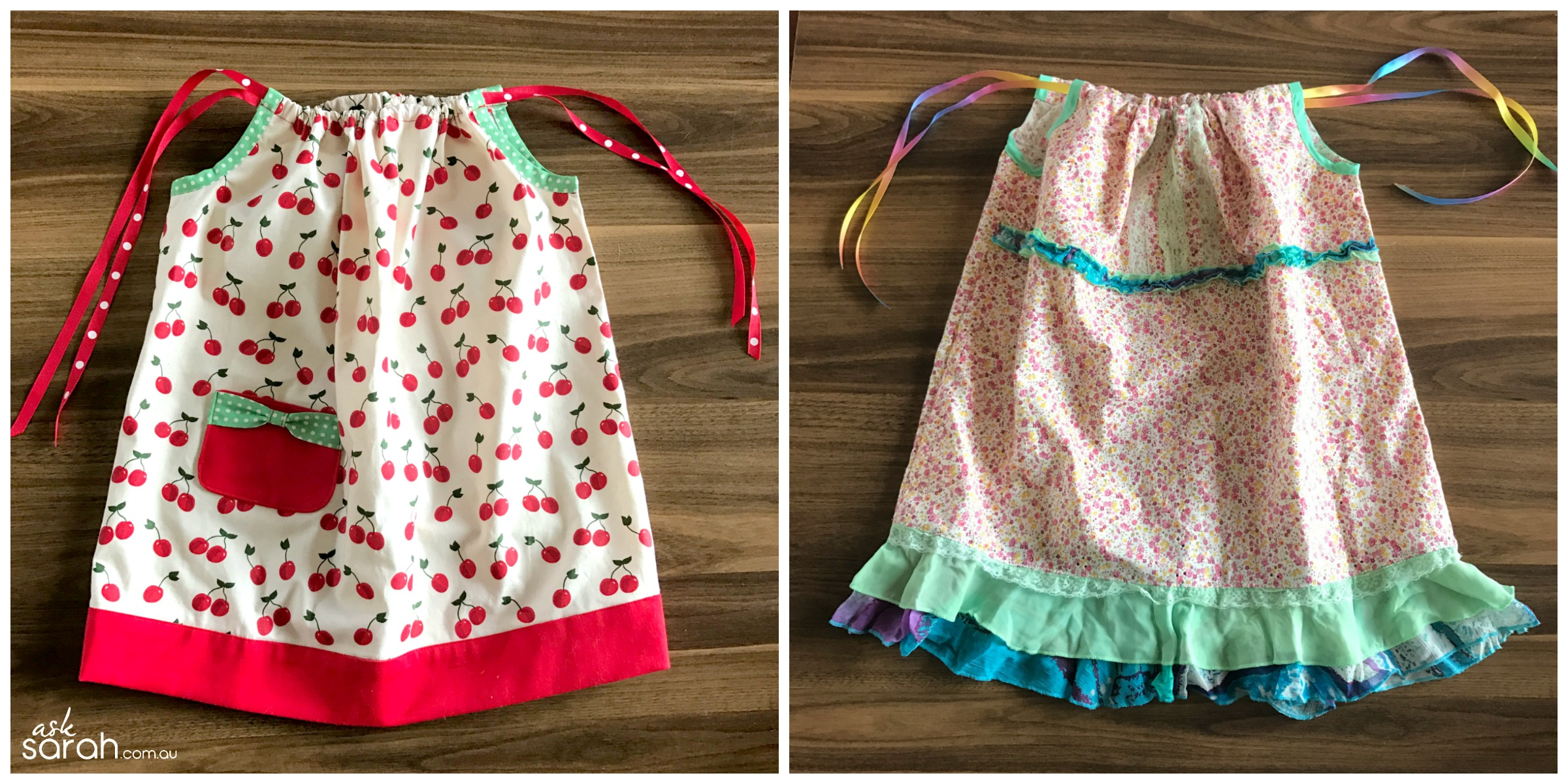 Sew Sweet Toddler Pillowcase Dresses {Link To Tutorial & Pattern Sizes 3-6 mths to 5 years} - Two Little Dresses