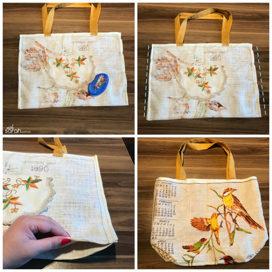 Sew: Vintage Tea Towel Totes Three Ways {Easy & Sweet Upcycle} – Ask