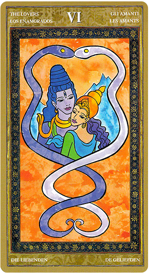 Yoga Tarot - the Lovers