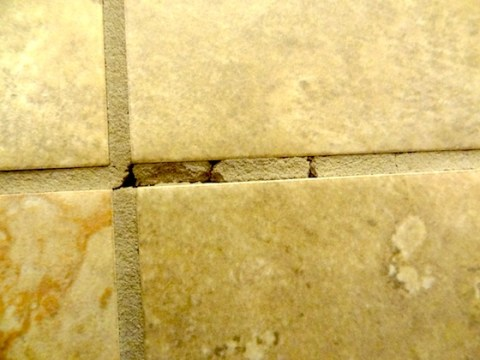 Grout Cracking Floor Tiles   Ask the Builder This is but one photo that Sharon sent  This is a good representation of  what
