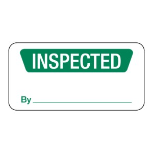 Inspected Label