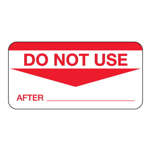 Do Not Use After Label