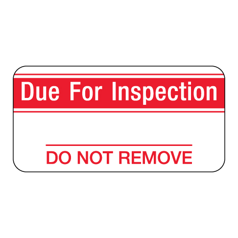 Due for Inspection Label