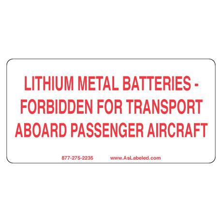 Lithium Metal Battery Label