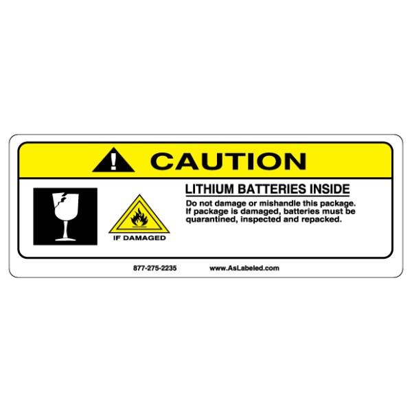 Caution Lithium Batteries Inside Label