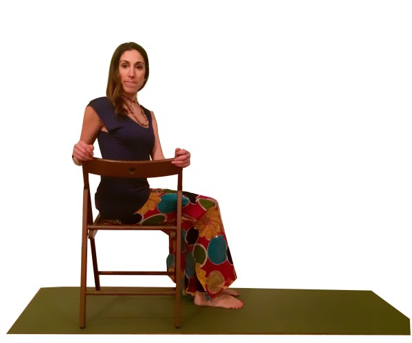 sandalye yogası  chair yoga