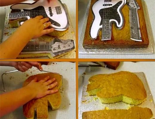 How to make a Guitar Cake