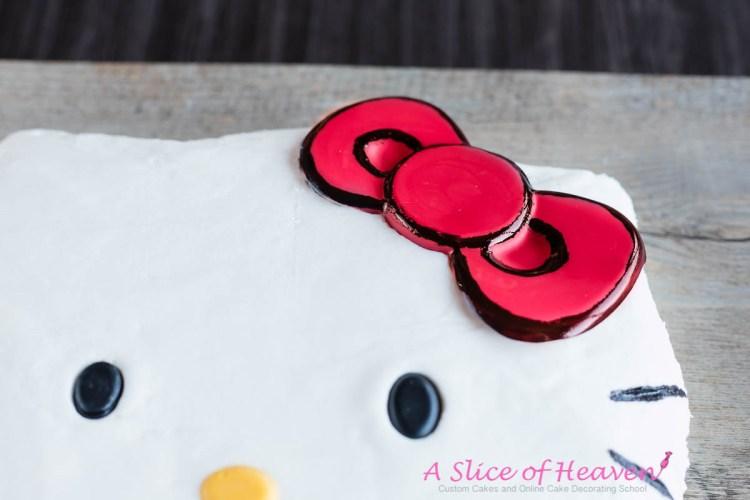 Easy Homemade Hello Kitty Cake | A Slice Of Heaven