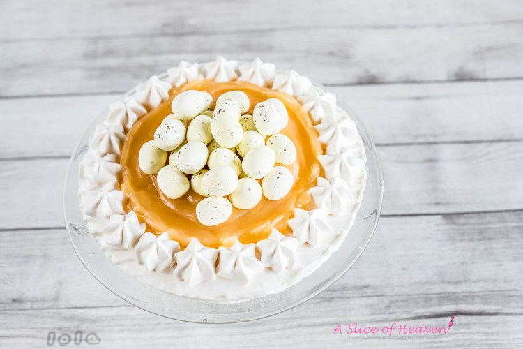 White chocolate eggs in the center | A Slice of Heaven