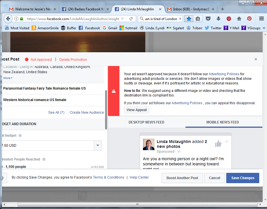 FB Ad Disapproval