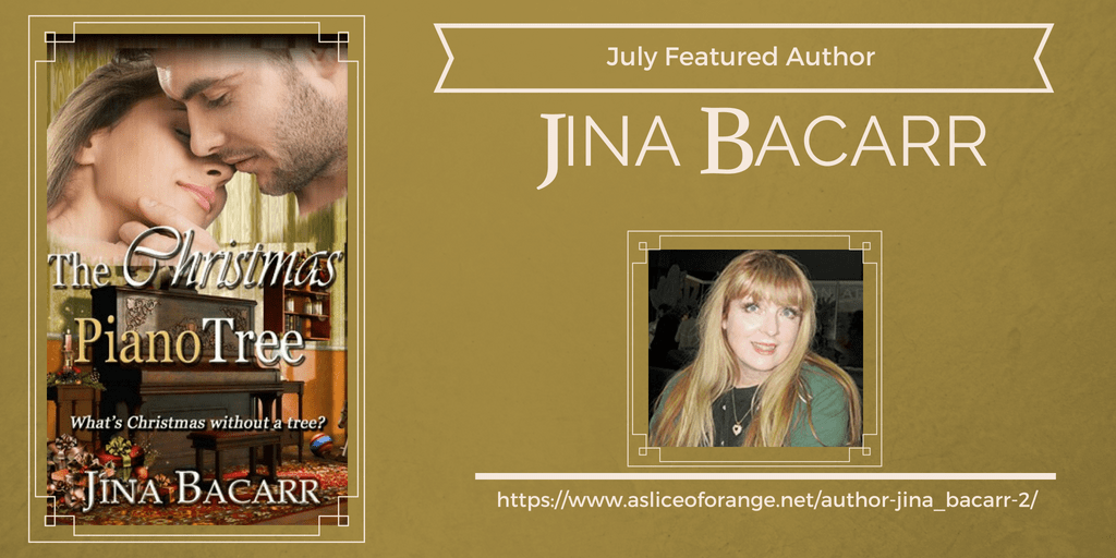 Author Jina Bacarr | Featured Author of the Month | A Slice of Orange