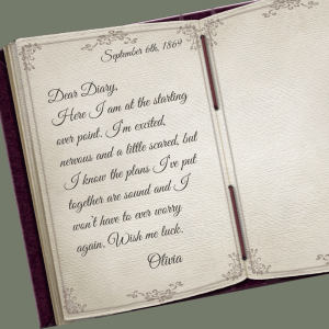 1869 Diary entry by Olivia Carmichael in A Man Was Not The Plan by Denise M. Colby