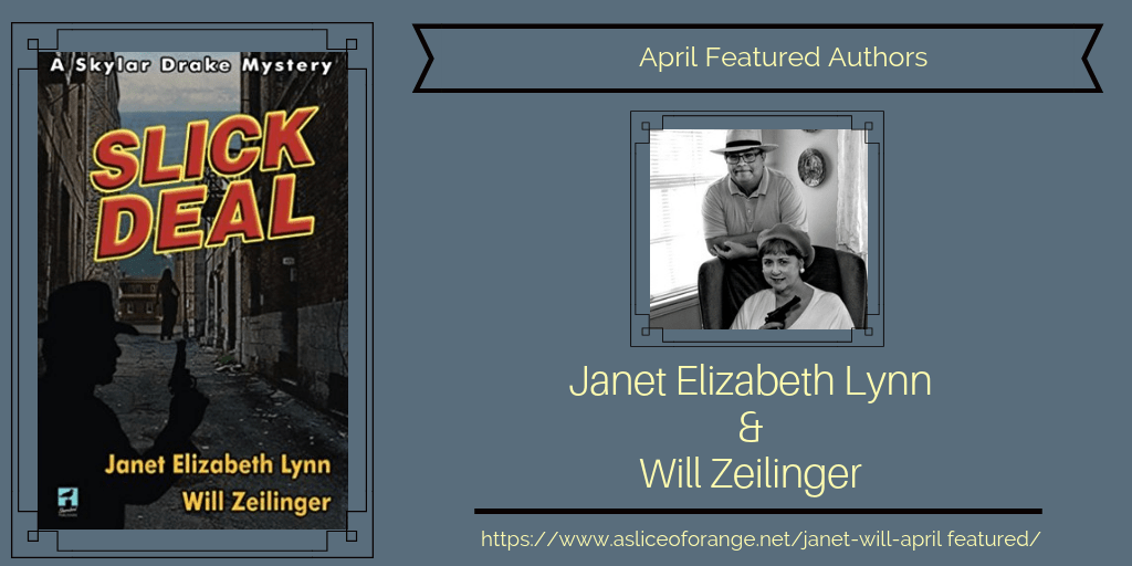 The cover of the book Slick Deal and authors Janet Eliabeth Lynn and Will Zeilinger