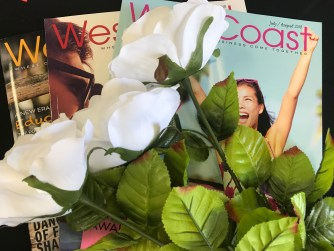 Three white roses for three magazine articles - Denise M. Colby