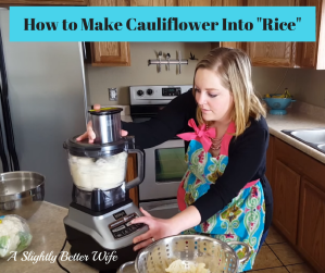"How to Make Cauliflower Into ""Rice"""