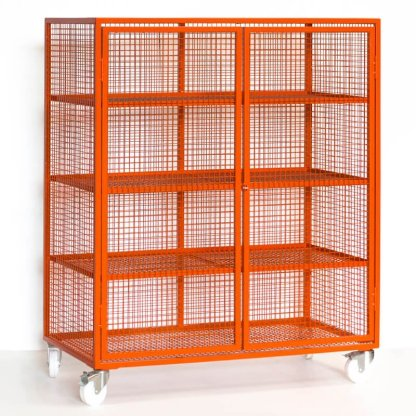 Mesh Lockable Storage Trolley (Large)