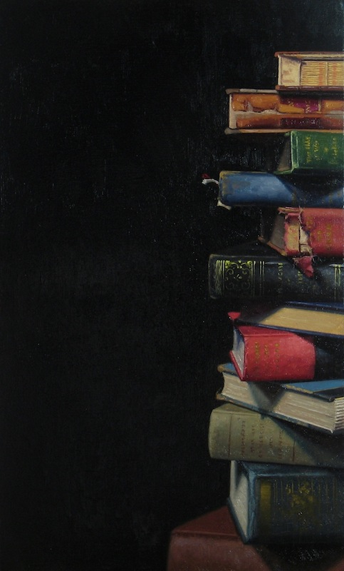 Ephraim Rubenstein's Book Pile XXIX (detail)