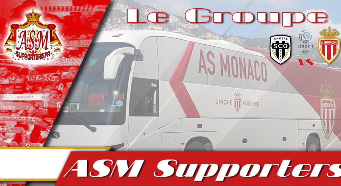 Angers – Monaco : le groupe monégasque