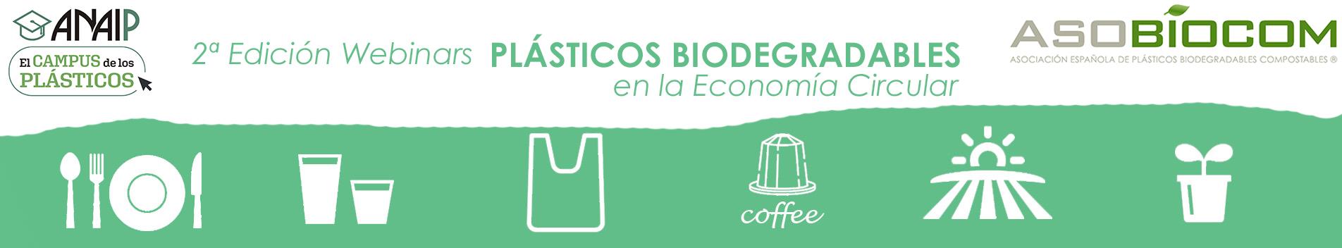 La 2ª temporada de webinars sobre plásticos biodegradables finaliza con gran acogida