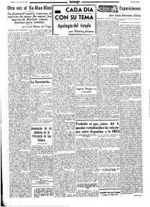 """imagen del articulo """"Evocación y nostalgia del Timple"""" 28 de septiembre de 1947. Periódico Falange."""