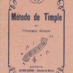 1954 Método de Timple Francisco Alcázar.