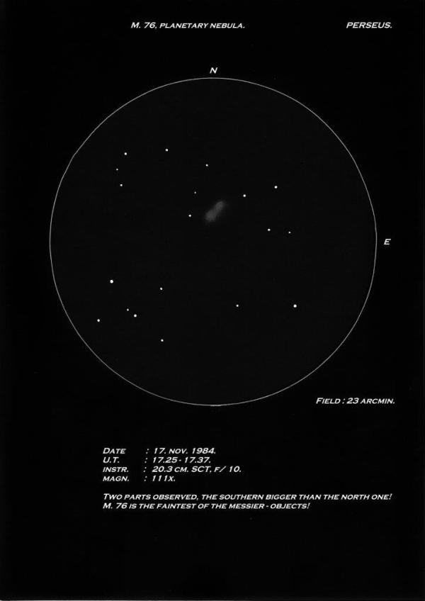 Messier 76 Astronomy Sketch of the Day
