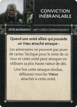 Jeor Mormont - Conviction Inébranlable
