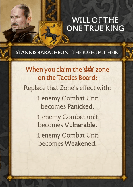 Stannis Baratheon - The Rightful Heir - Will Of The One True King