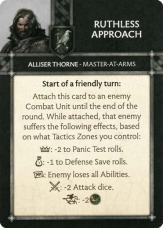 Alliser Thorne - Master At Arms - Ruthless Approach