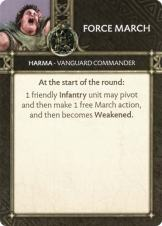 Harma - Vanguard Commander Force March