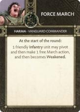 Harma - Vanguard Commander Force March