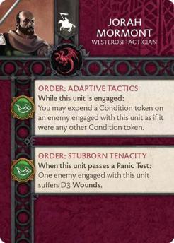 Jorah Mormont - Westerosi Tactician (Verso) US
