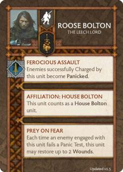 Roose Bolton - The Leech Lord (Verso) 1.5 US