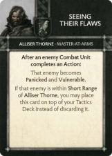 Alliser Thorne - Master At Arms - Seeing Their Flaws