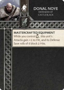 Donal Noye - Defender Of Castle Black (Verso) US