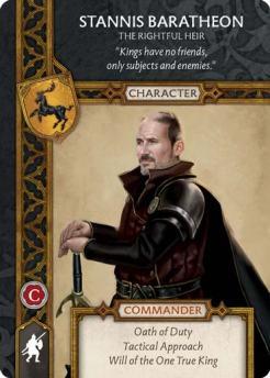 Stannis Baratheon - The Rightful Heir (Recto) US