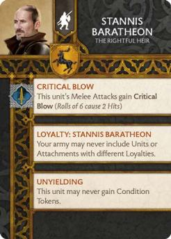 Stannis Baratheon - The Rightful Heir (Verso) US