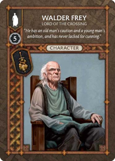 Walder Frey - Lord Of The Crossing (Recto) US