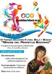 Cartel Torneo Solidario 2014