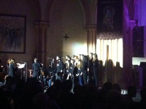 Durante el concierto (Foto: @pedrolopezcalvo)