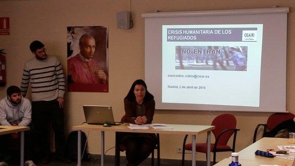 Exposición de Mercedes Rubio en el Curso de Voluntariado