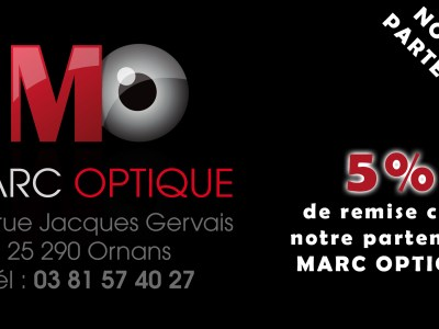 Visuel partenariat opticien Marc Optique Ornans