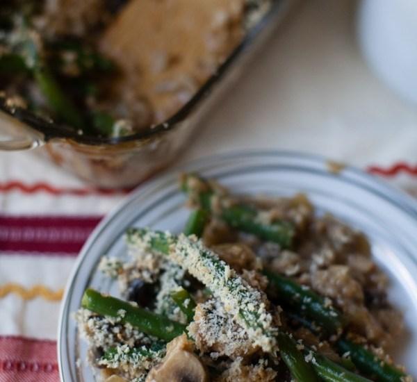 Crunchy Panko Crusted Green Bean Casserole