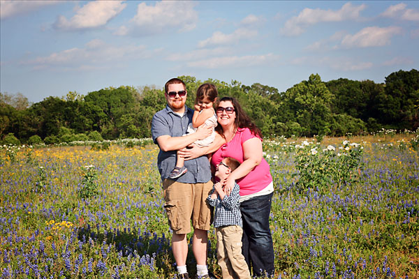 Texas bluebonnet family pictures